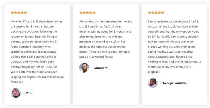 semenoll customer reviews