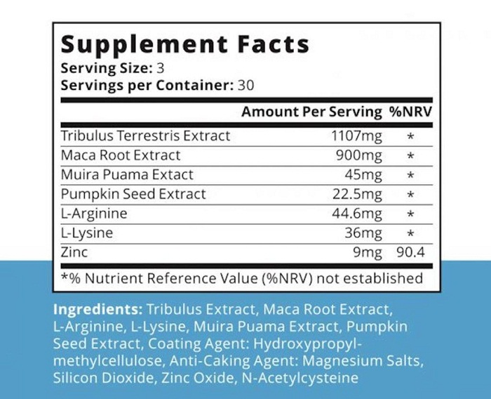 Semenoll Ingredients